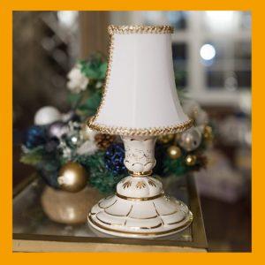 Настольные светильники с росписью сусальным золотом